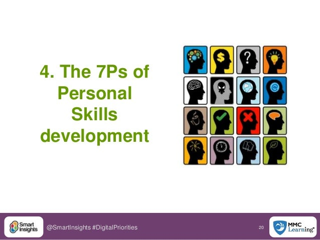 20@SmartInsights #DigitalPriorities 4. The 7Ps of Personal Skills development