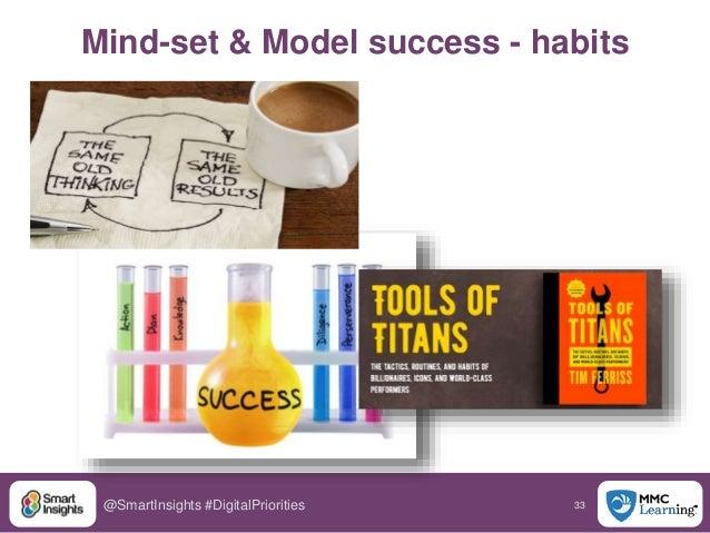 33@SmartInsights #DigitalPriorities Mind-set & Model success - habits