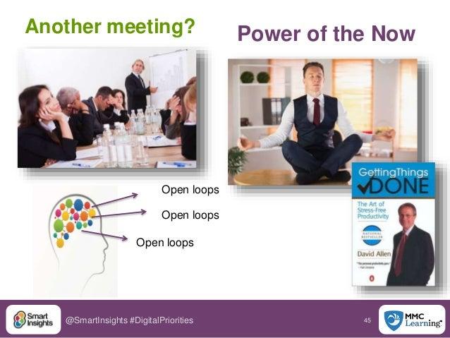 45@SmartInsights #DigitalPriorities Power of the NowAnother meeting? Open loops Open loops Open loops