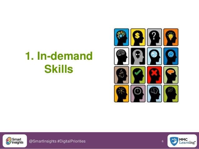 6@SmartInsights #DigitalPriorities 1. In-demand Skills