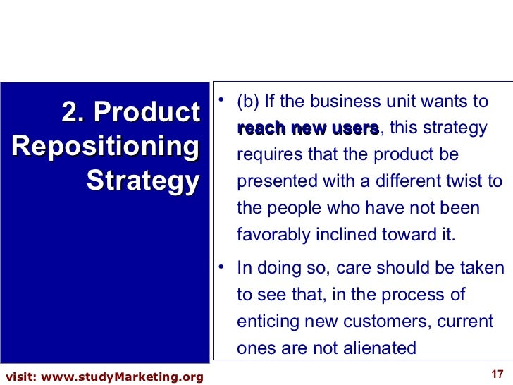 <ul><li>(b) If the business unit wants to  reach new users , this strategy requires that the product be presented with a d...