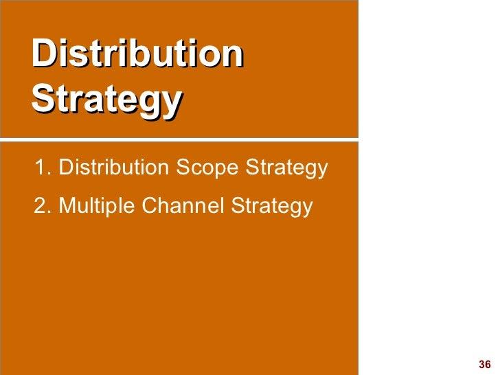 Distribution Strategy <ul><li>Distribution Scope Strategy </li></ul><ul><li>Multiple Channel Strategy </li></ul>