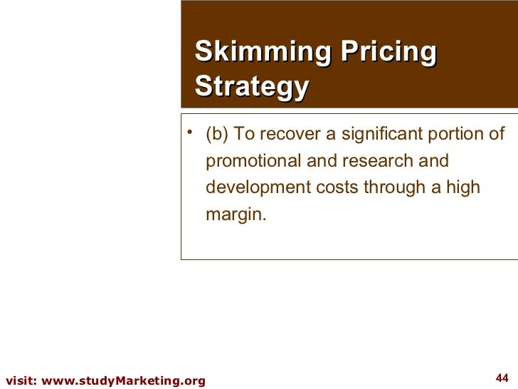 <ul><li>(b) To recover a significant portion of promotional and research and development costs through a high margin. </li...
