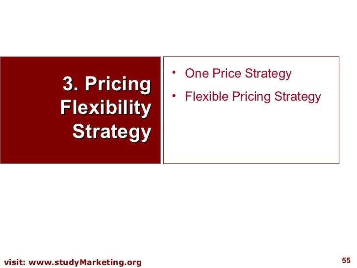 3. Pricing Flexibility Strategy <ul><li>One Price Strategy </li></ul><ul><li>Flexible Pricing Strategy </li></ul>