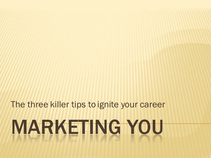 The three killer tips to ignite your career