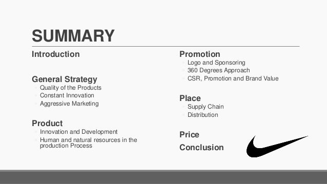 nike s product mix And now it is making strides in the marketing of shoes for the  what is more, top- of-the-line nike shoes, called nike air, share a design.