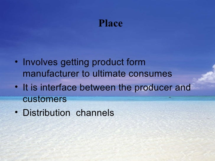 <ul><li>Involves getting product form manufacturer to ultimate consumes </li></ul><ul><li>It is interface between the prod...