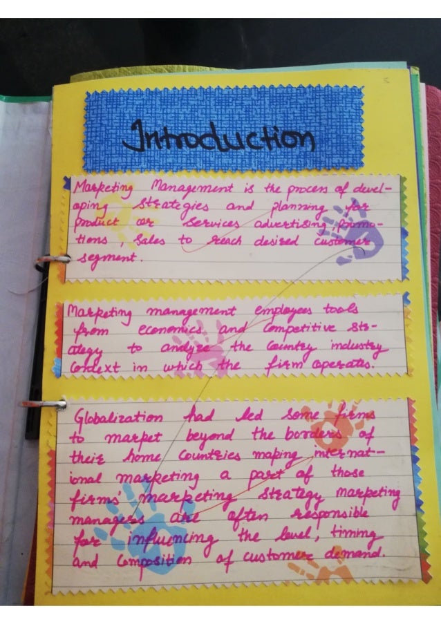 Marketing Project for class 12 BUSINESS STUDIES CBSE