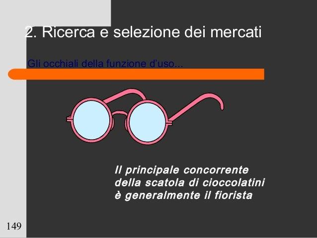 149 Il principale concorrente della scatola di cioccolatini è generalmente il fiorista Gli occhiali della funzione d'uso.....
