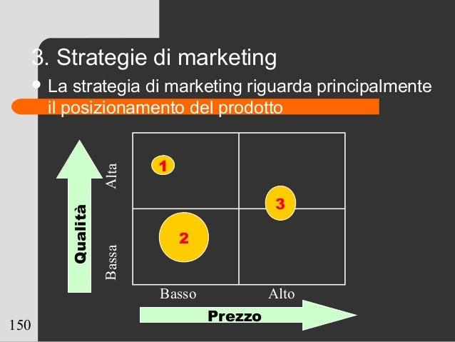 150 3. Strategie di marketing  La strategia di marketing riguarda principalmente il posizionamento del prodottoAltaBassa ...