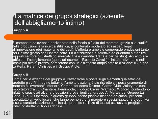 168 Gruppo A E' composto da aziende posizionate nella fascia più alta del mercato, grazie alla qualità delle produzioni, a...
