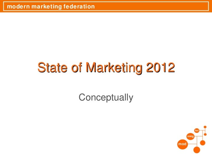 State of Marketing 2012 Conceptually