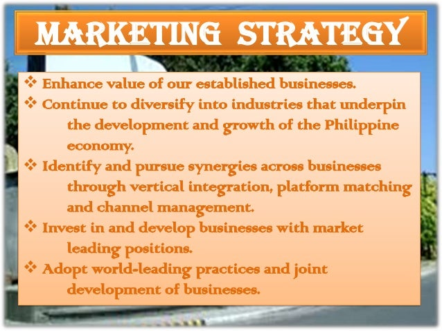 marketing strategy of san miguel corporation in the philippines San miguel food avenue is owned and managed by san miguel corporation so it is hard to pass up an  san miguel food ave franchise  promotional and marketing.