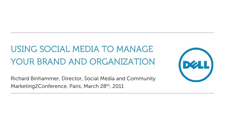 Using Social Media to Manage your Brand and Organization