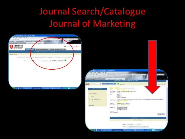 Journal Search/Catalogue  Journal of Marketing