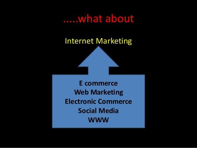 .....what aboutInternet Marketing     E commerce   Web MarketingElectronic Commerce    Social Media        WWW