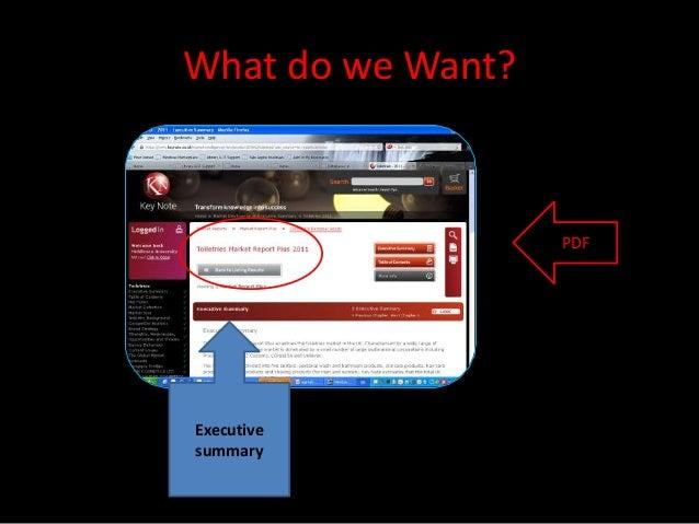 What do we Want?                   PDFExecutivesummary