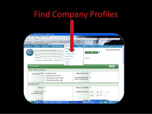Find Company Profiles