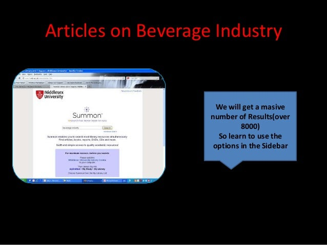 Articles on Beverage Industry                      We will get a masive                    number of Results(over         ...