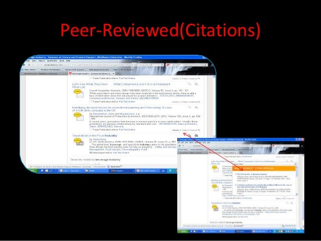 Peer-Reviewed(Citations)