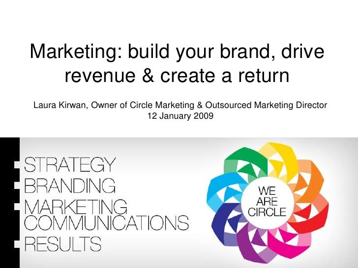 Marketing: build your brand, drive revenue & create a return<br />Laura Kirwan, Owner of Circle Marketing & Outsourced Mar...