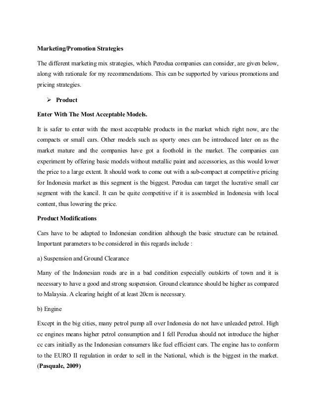 pricing strategies for perodua