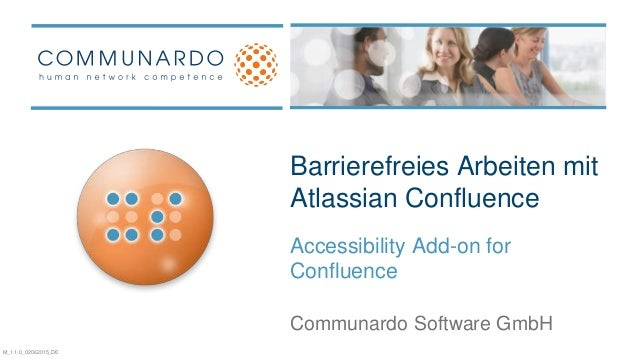 Wir leben Social Business Barrierefreies Arbeiten mit Atlassian Confluence Accessibility Add-on for Confluence Communardo ...