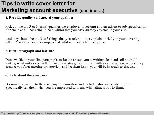 ... 4. Tips To Write Cover Letter For Marketing Account Executive ...