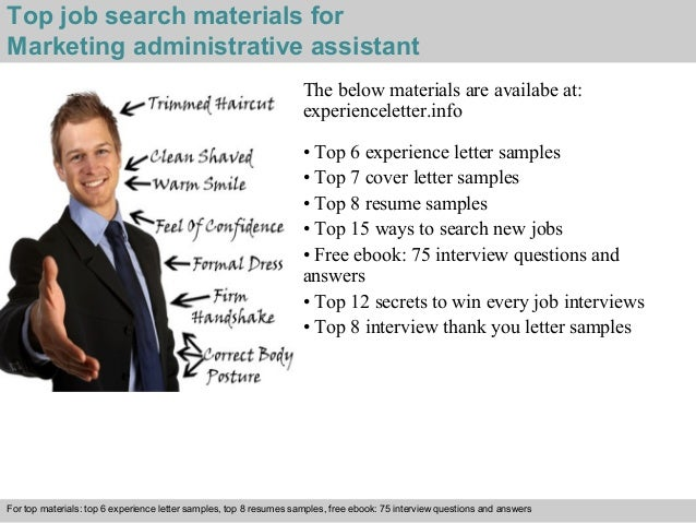 4 top job search materials for marketing administrative assistant