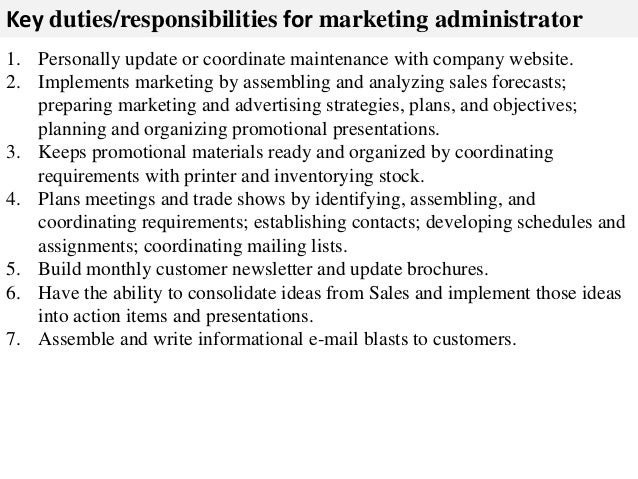 Marketing Administrator Job Description