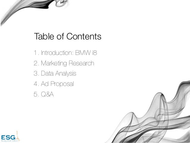 bmw analysis proposal Recycled riding dreams motorcycle shop business plan market analysis summary recycled riding dreams will offer quality used motorcycles and parts to a growing market of motorcycling hobbyists.