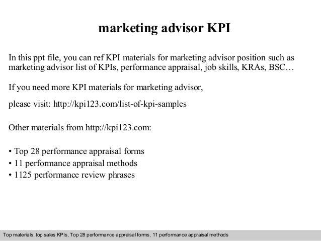 Marketing Advisor Kpi In This Ppt File You Can Ref Kpi Materials For Marketing  Advisor