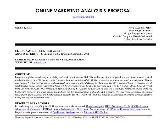 internet marketing proposal seo search engine rank report. Black Bedroom Furniture Sets. Home Design Ideas