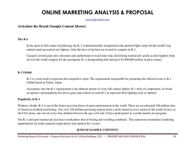 Internet Marketing Proposal Template. 25 best ideas about ...