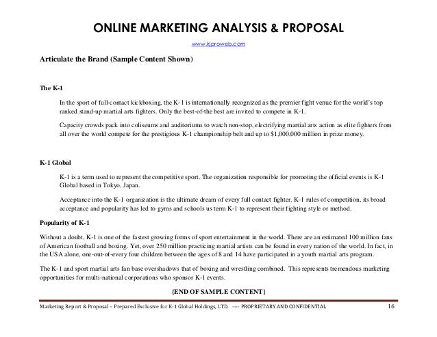 Internet Marketing Proposal SEOSearch Engine Rank Report – Marketing Proposal Samples