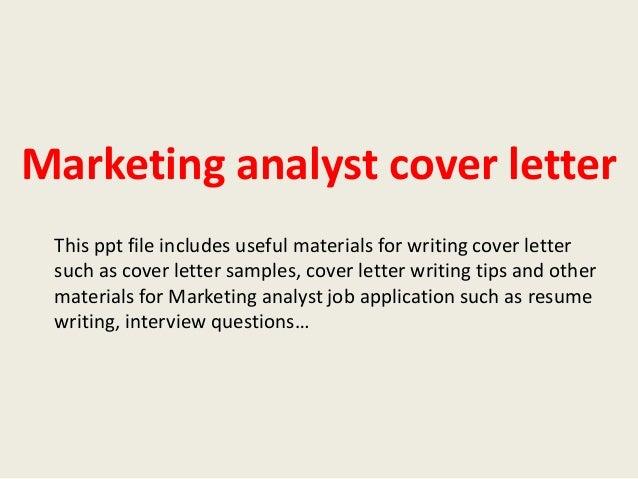 Digital marketing analyst cover letter