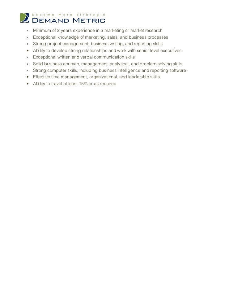 marketing analyst job description pdf