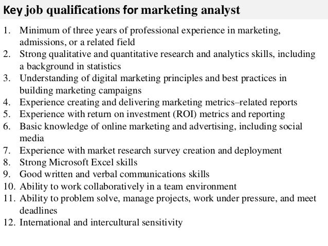 Attractive Marketing Analyst Job Description