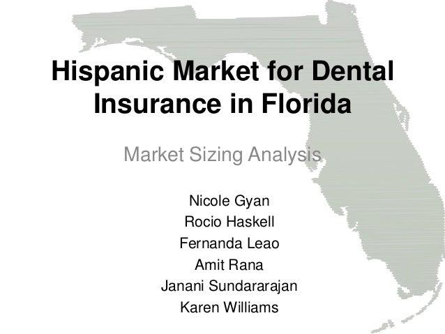 Market Sizing Analysis Nicole Gyan Rocio Haskell Fernanda Leao Amit Rana Janani Sundararajan Karen Williams Hispanic Marke...