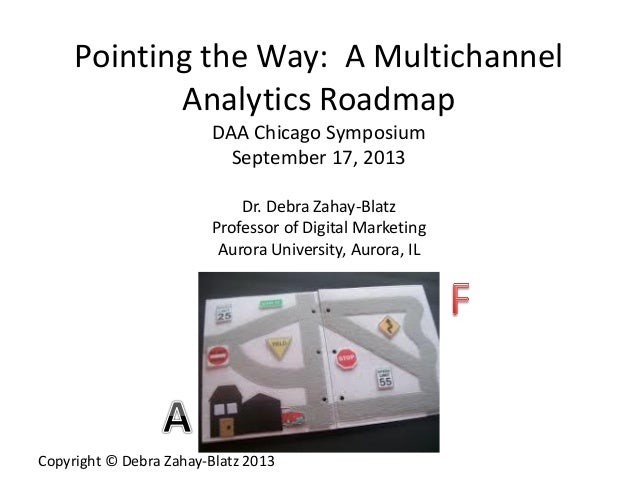 Copyright © Debra Zahay-Blatz 2013 Pointing the Way: A Multichannel Analytics Roadmap DAA Chicago Symposium September 17, ...