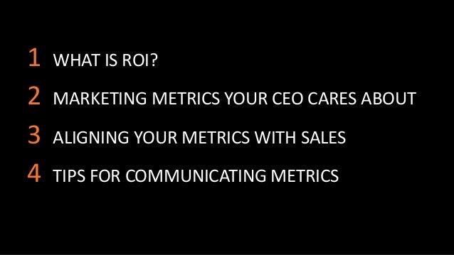 Marketing Analytics to Communicate ROI Slide 2