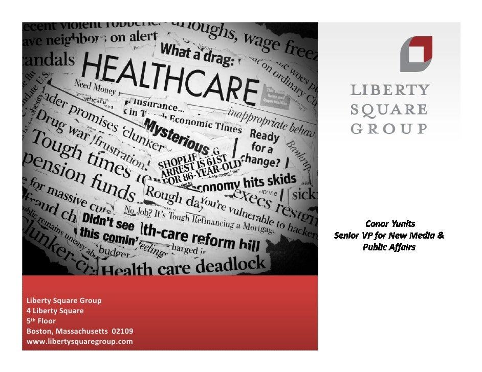 Liberty Square Group4 Liberty Square5th FloorBoston, Massachusetts 02109www.libertysquaregroup.com