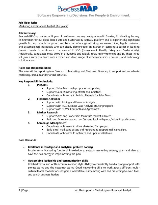 job description for financial analyst - Khafre