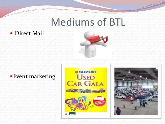 Mediums of BTL  Promotional marketing
