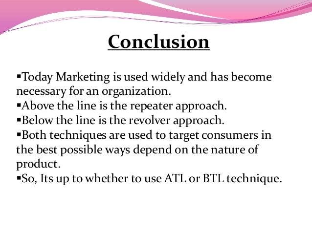 Marketing and how atl and btl activity relate to marketing mc presentation