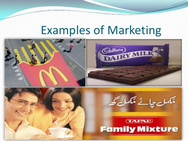 Examples of Marketing