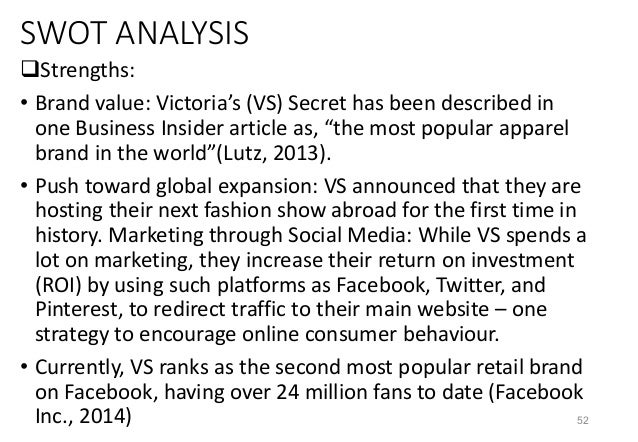 analysis of victoria s secret essay example 5 days ago  news analysis  just 11% agreed that the current twice-a-year cadence is their  preference, and an infinitesimal 1% wanted an even quicker tempo  yymm  format, about three and a half months after the original 1507.