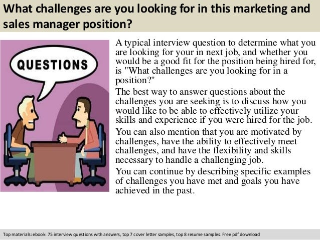 Marketing and sales manager interview questions Slide 2