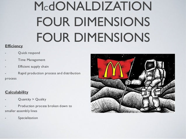 mcdonaldization efficiency