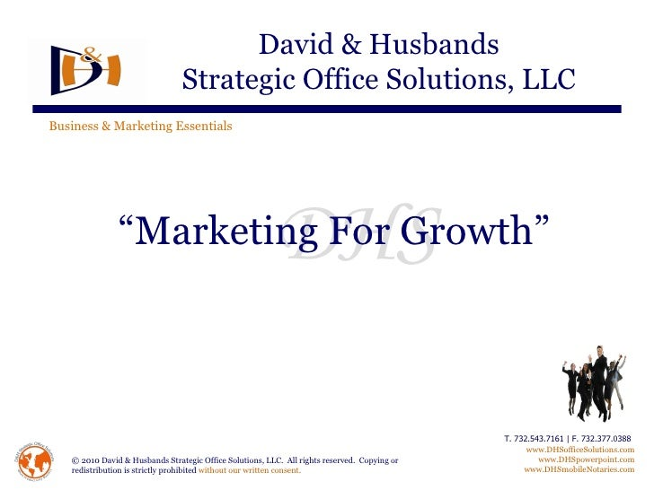 """"""" Marketing For Growth"""""""
